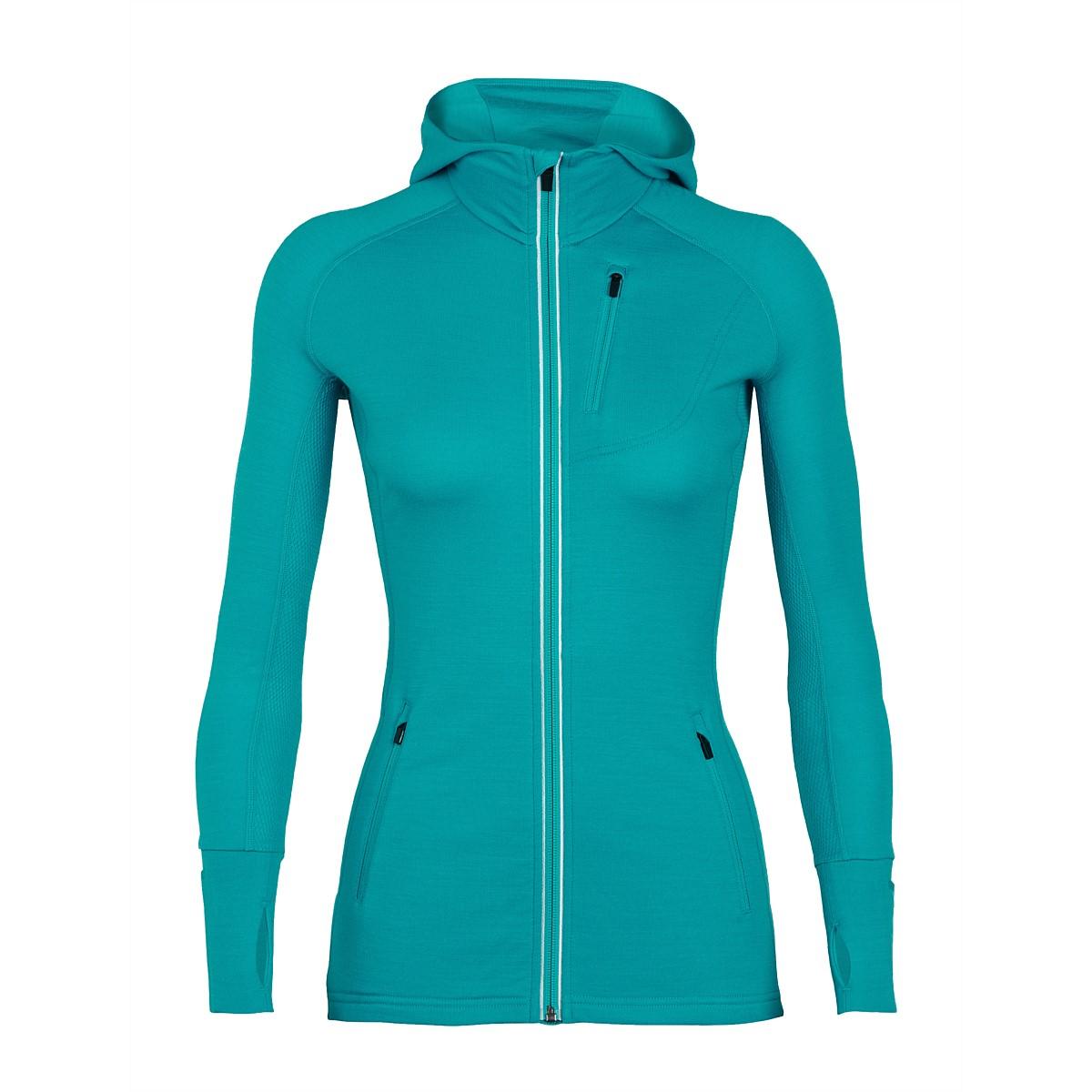 929041d17a Womens - Icebreaker Women's Quantum Long Sleeve Zip Hood