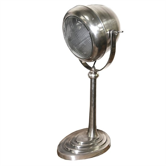 Car Desk Lamp in Pewter Style Finish