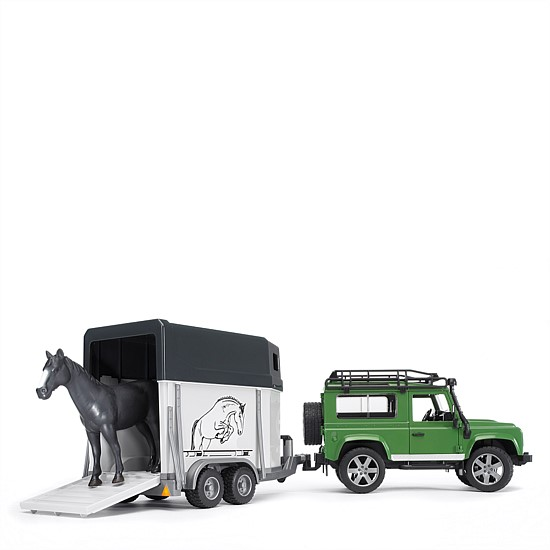Land Rover Defender and Horse Float