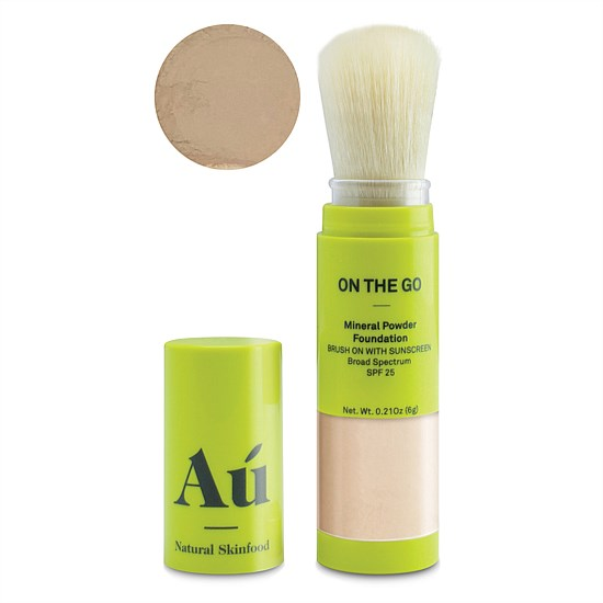 On The Go Mineral Powder Foundation Brush On With Sunscreen - Medium