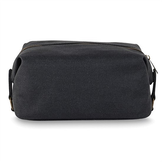 Cadet Waxed Canvas Wash Bag
