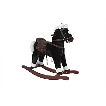 Black Rocking Horse with sound & moving mouth