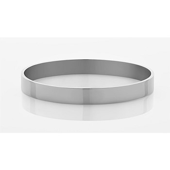 8mm Plain Bangle Sterling Silver