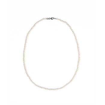 Micro Pearl Necklace Sterling Silver
