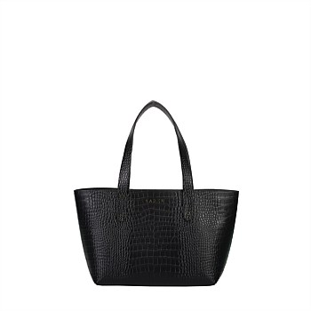 Jade Recycled Leather Tote Black
