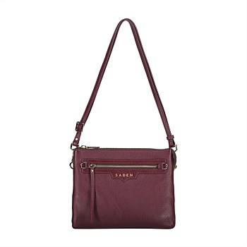 Matilda Leather Crossbody Raisin