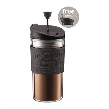 Travel Press Set Coffee Maker With Extra Lid