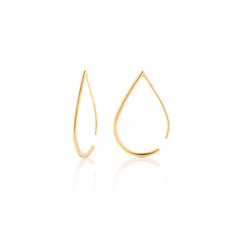 Droplet Hoops 9CT Yellow Gold