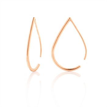 Droplet Hoops 9CT Rose Gold