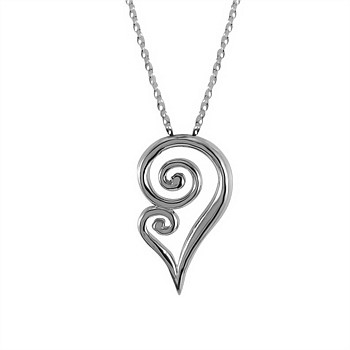 Koru Fern Necklace - Sterling Silver