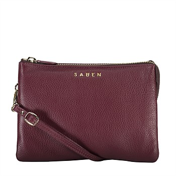 Tilly's Big Sis Leather Crossbody Raisin