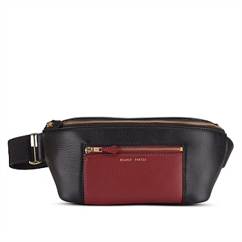Nimbus Belt Bag - Black/Burgundy