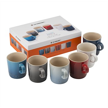 Stoneware Mugs - Set of 6