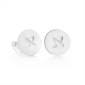 Discologo Studs Sterling Silver