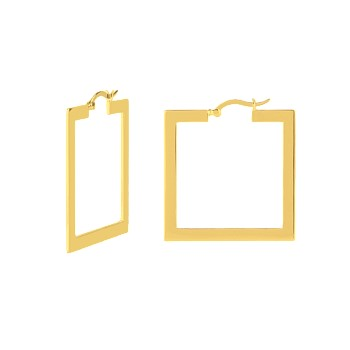 Square Shoop  14CT Gold Plate