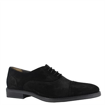 Mr Hill Brogue - Black Suede