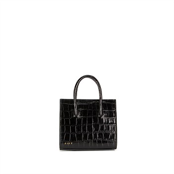 Crush Tote Mini Croc - Midnight