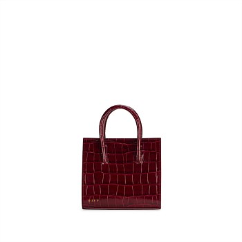 Crush Tote Mini Croc - Bordeaux