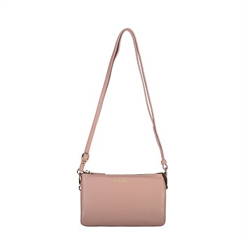 Tilly Crossbody Leather Bag - Pink