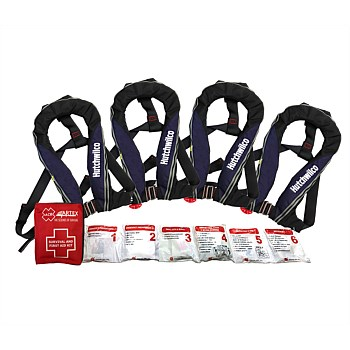 Inflatable Lifejackets 4 pack  (Bonus 1st aid kit)