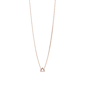 Triangle Pendant Rose Gold