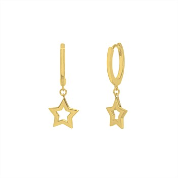 Super Star Huggie 14CT Gold Plated