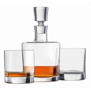 SZ Paris Decanter & 2 Whisky Glasses Set