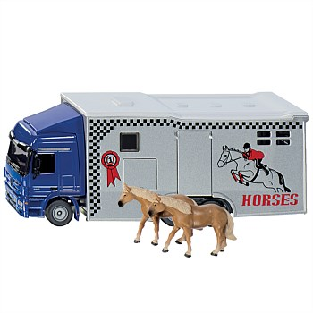 1:50 Mercedes Horse Transporter with 2 Horses