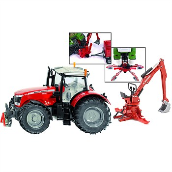 1:32 Massey Ferguson Tractor with Rear End Digger