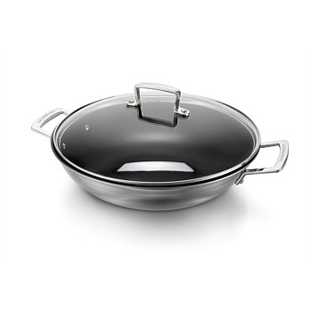 3-Ply Wok with Glass Lid