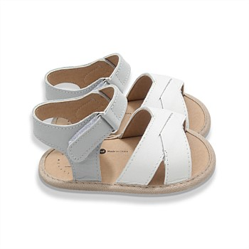 Hopscotch Sandal in Milk + Stone