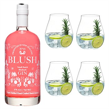 New Zealand Rhubarb Gin and Gin Glasses