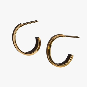 Ridge Hoop Earrings, Gold