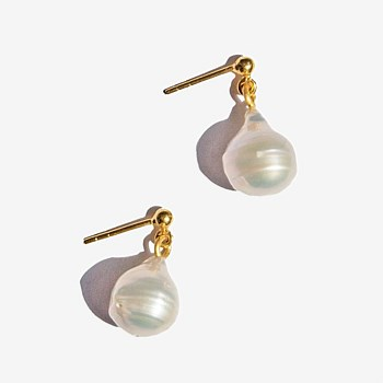 Paloma Pearl Drop Earrings, Gold