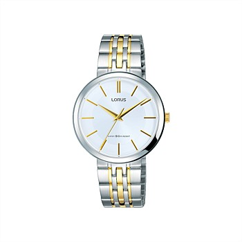 Ladies Silver and Gold Dress Watch
