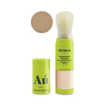 On The Go Mineral Powder Foundation Brush On With Sunscreen - Dark