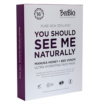Pure New Zealand Manuka Honey +Bee Venom Ultra Hydrating Sheet Mask - Pack of 5 Masks