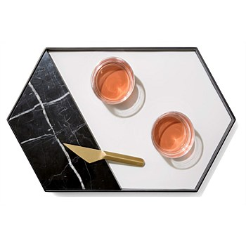 Marble Serving Tray w/Cheese Knife