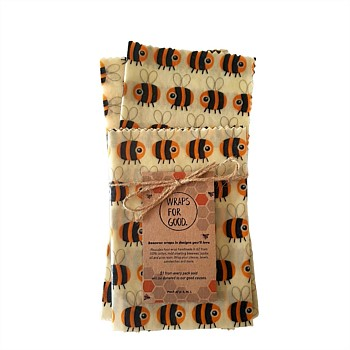 Beeswax Wraps 3pack