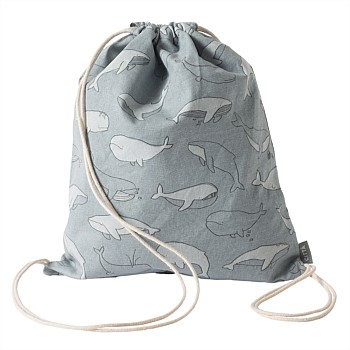 Whale Of A Time Drawstring Bag