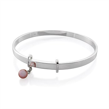 Extendable Bangle with pink pearl