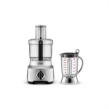 """Kitchen Wizz 8"" Food Processor - Silver"