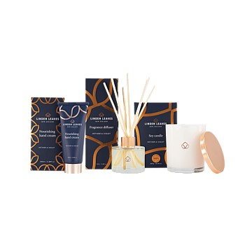Vetiver & Violet Candle, Fragrance Diffuser and Hand Cream collection
