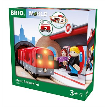 Metro Railway Set, 20 Pieces