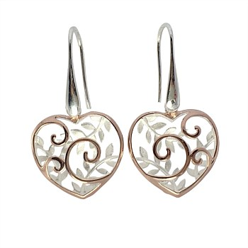 Koru Heart Basket Earrings