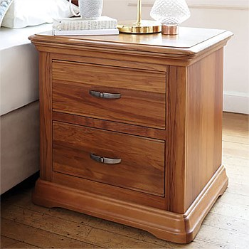 Opera 2 Drawer Bedside Table by Sorensen Furniture